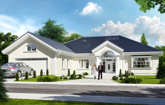 House plan Villa Park - front visualization 2