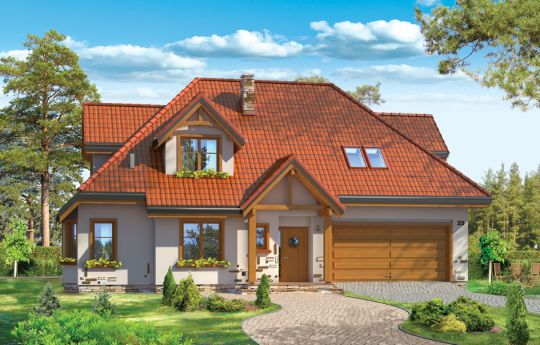 House plan Ash tree 2 - front visualization