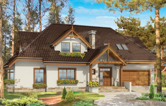 House plan Ash tree - front visualization