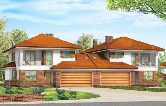 House plan Cassiopeia 2 - front visualization