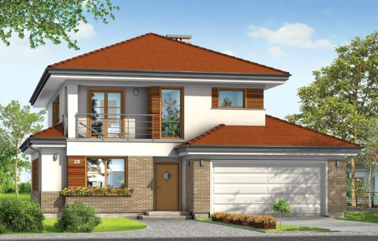 House plan Cassiopeia 3 - front visualization