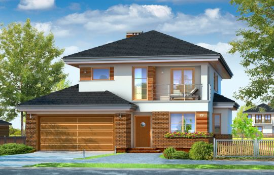 House plan Cassiopeia 4 - front visualization