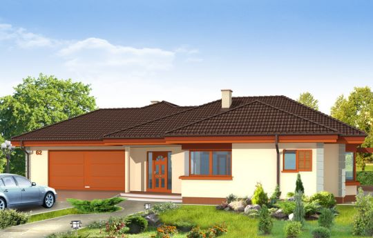 House plan Comfortable - front visualization