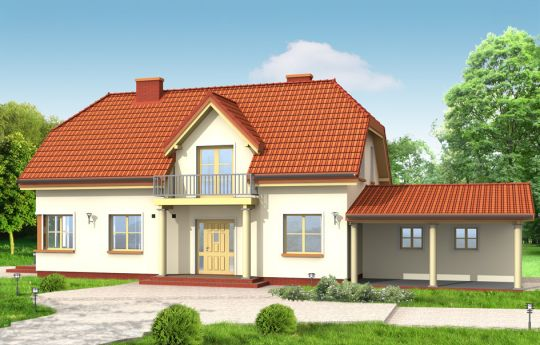 House plan Christopher - front visualization