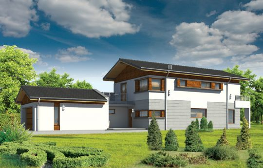 House plan Lugano - front visualization