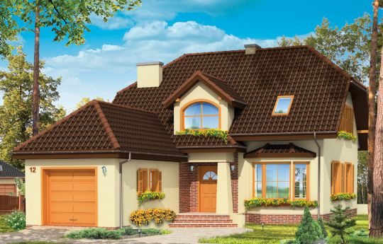 House plan Cheerful 4 - front visualization