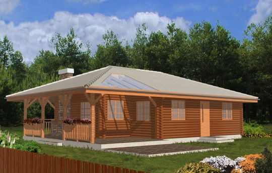 House plan Cheerful wooden - front visualization