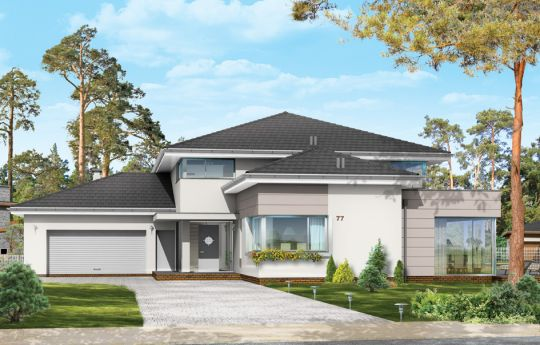 House plan Luxary - front visualization