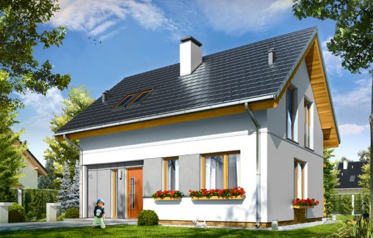 House plan Anna - front visualization