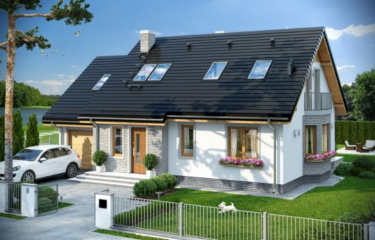 House plan Breeze 5 - front visualization
