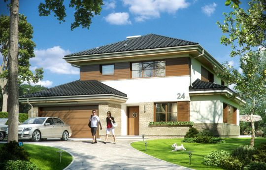 House plan Cassiopeia 5 - front visualization