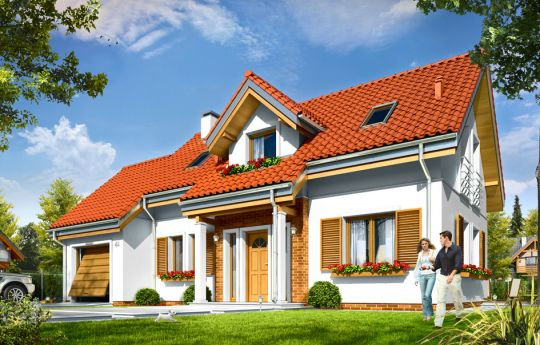 House plan Lucky - front visualization