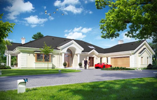 House plan Park Residence 2 - front visualization