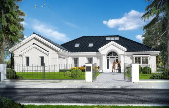 House plan Park Residence 3 - front visualization