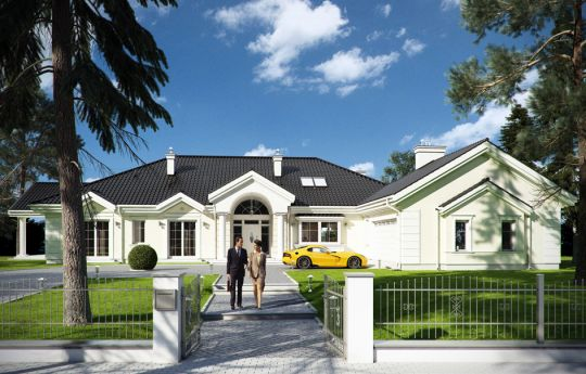 House plan Park Residence - front visualization
