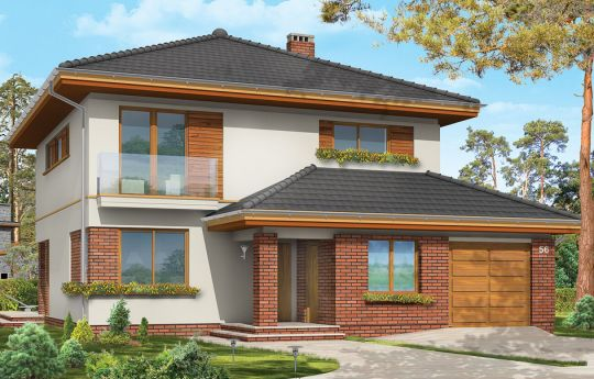 House plan Emerald 3 - front visualization