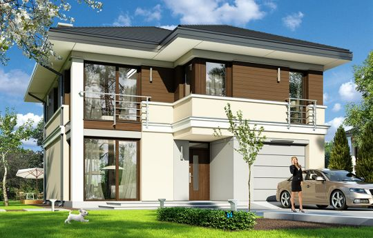 House plan Titan - front visualization