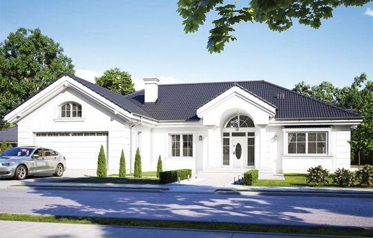 Projekt domu Willa parkowa D - wizualizacja frontu
