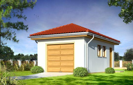 Garage BG10 - front visualization