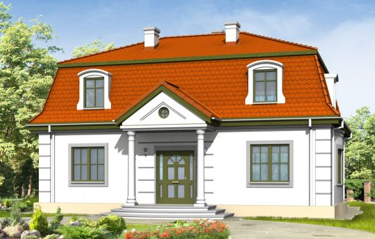 House plan Retro - front visualization