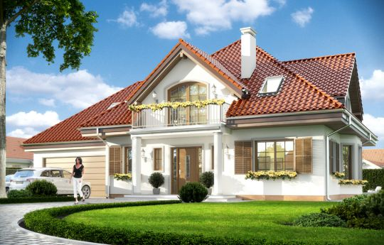 House plan Romeo - front visualization