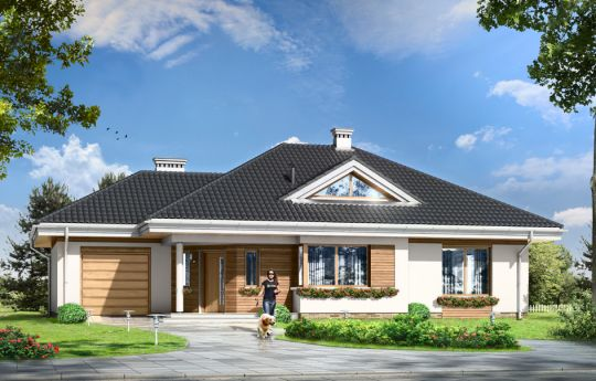 House plan Development - front visualization