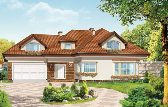 House plan Abode - front visualization