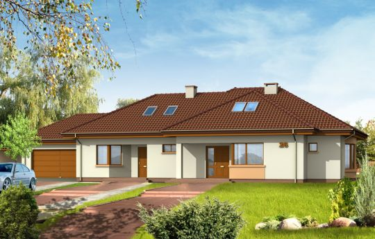 House plan For three generations - front visualization