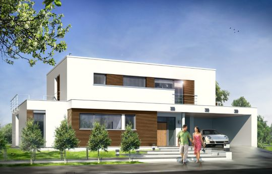 House plan Villa l' Azur - front visualization