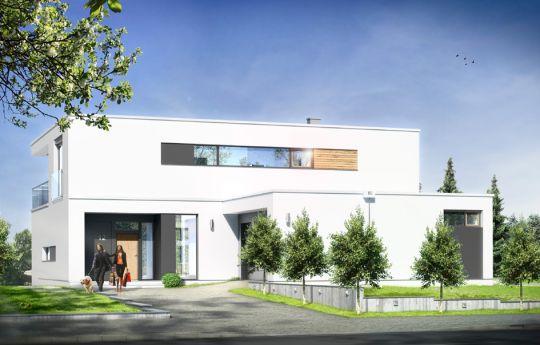 House plan Villa sunny - front visualization