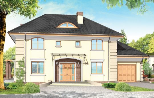 House plan Villa - front visualization