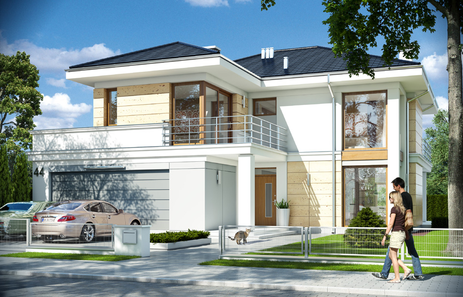 Riviera 4 house plan -> Kuchnia Projekt Stary Browar